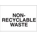 Seton 27438 Recycling Labels - Non-Recyclable Waste