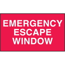 Seton 28825 Emergency Escape Window Safety Door And Window Decals