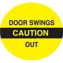 Seton 28828 Caution Door Swings Out Safety Door And Window Decals
