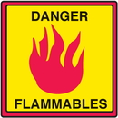 Seton 29362 Safety Traffic Cone Signs - Danger Flammables