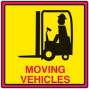 Seton 29368 Safety Traffic Cone Signs - Moving Vehicles