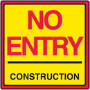 Seton 29369 Safety Traffic Cone Signs - No Entry Construction