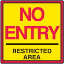 Seton 29370 Safety Traffic Cone Signs - No Entry Restricted