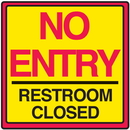 Seton 29371 Safety Traffic Cone Signs - No Entry Restroom Closed