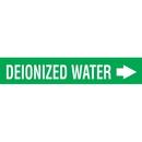 Code 29953 Seton Code Economy Self-Adhesive Pipe Markers - Deionized Water