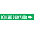 Code 29958 Seton Code Economy Self-Adhesive Pipe Markers - Domestic Cold Water