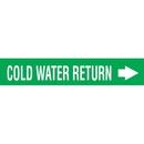 Code 29998 Seton Code Economy Self-Adhesive Pipe Markers - Cold Water Return