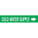 Code 29999 Seton Code Economy Self-Adhesive Pipe Markers - Cold Water Supply