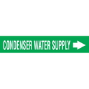 Code 30011 Seton Code Economy Self-Adhesive Pipe Markers - Condenser Water Supply