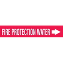Code 30018 Seton Code Economy Self-Adhesive Pipe Markers - Fire Protection Water