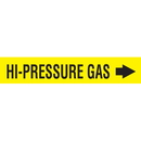 Code 30026 Seton Code Economy Self-Adhesive Pipe Markers - Hi-Pressure Gas