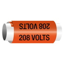 Seton 208 Volts - Snap-Around Electrical Markers