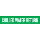 Code 32110 Seton Code Economy Self-Adhesive Pipe Markers - Chilled Water Return