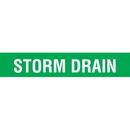 Code 32113 Seton Code Economy Self-Adhesive Pipe Markers - Storm Drain