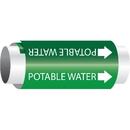 Setmark 34070 Setmark Snap-Around Pipe Markers - Potable Water