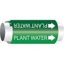 Setmark 34136 Setmark Snap-Around Pipe Markers - Plant Water