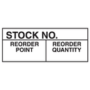 Seton 35323 Stock No. Reorder Point Reorder Quantity Write On Labels