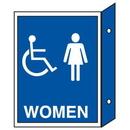 Seton Handicap Women's Restoom Signs - Double Faced - 35675