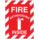 Seton 37808 Fire Extinguisher Inside Self-Adhesive Vinyl Fire Equipment Signs