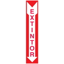 Seton 37814 Extintor (Spanish) Self-Adhesive Vinyl Fire Equipment Signs