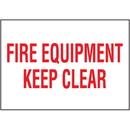 Seton 37827 Fire Equipment Keep Clear Self-Adhesive Vinyl Fire Equipment Signs