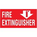 Seton 37837 Fire Extinguisher Self-Adhesive Vinyl Fire Equipment Signs