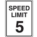 Seton 37886 Lightweight Parking Signs - Speed Limit 5