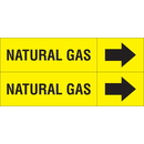 Weather-Code 38068 Weather-Code? Self-Adhesive Outdoor Pipe Markers - Natural Gas