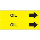 Weather-Code 38069 Weather-Code? Self-Adhesive Outdoor Pipe Markers - Oil