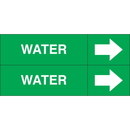 Weather-Code 38077 Weather-Code? Self-Adhesive Outdoor Pipe Markers - Water