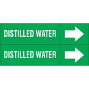 Weather-Code 38080 Weather-Code? Self-Adhesive Outdoor Pipe Markers - Distilled Water