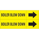 Weather-Code 38088 Weather-Code? Self-Adhesive Outdoor Pipe Markers - Boiler Blow Down