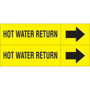Weather-Code 38094 Weather-Code? Self-Adhesive Outdoor Pipe Markers - Hot Water Return