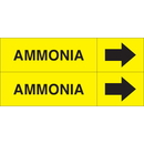 Weather-Code 38099 Weather-Code? Self-Adhesive Outdoor Pipe Markers - Ammonia
