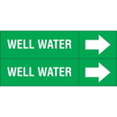 Weather-Code 38103 Weather-Code? Self-Adhesive Outdoor Pipe Markers - Well Water