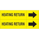 Weather-Code 38116 Weather-Code? Self-Adhesive Outdoor Pipe Markers - Heating Return