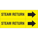 Weather-Code 38118 Weather-Code? Self-Adhesive Outdoor Pipe Markers - Steam Return