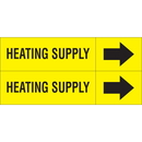 Weather-Code 38121 Weather-Code? Self-Adhesive Outdoor Pipe Markers - Heating Supply