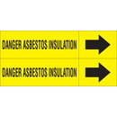 Weather-Code 38131 Weather-Code? Self-Adhesive Outdoor Pipe Markers - Danger Asbestos Insulation