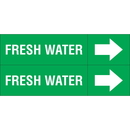 Weather-Code 38134 Weather-Code? Self-Adhesive Outdoor Pipe Markers - Fresh Water
