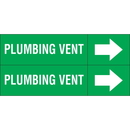 Weather-Code 38142 Weather-Code? Self-Adhesive Outdoor Pipe Markers - Plumbing Vent