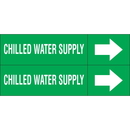 Weather-Code 38158 Weather-Code? Self-Adhesive Outdoor Pipe Markers - Chilled Water Supply
