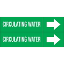 Weather-Code 38160 Weather-Code? Self-Adhesive Outdoor Pipe Markers - Circulating Water