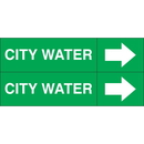 Weather-Code 38161 Weather-Code? Self-Adhesive Outdoor Pipe Markers - City Water