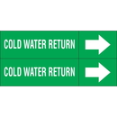 Weather-Code 38163 Weather-Code? Self-Adhesive Outdoor Pipe Markers - Cold Water Return