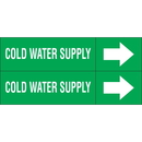 Weather-Code 38164 Weather-Code? Self-Adhesive Outdoor Pipe Markers - Cold Water Supply
