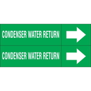 Weather-Code 38175 Weather-Code? Self-Adhesive Outdoor Pipe Markers - Condenser Water Return