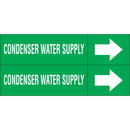 Weather-Code 38177 Weather-Code? Self-Adhesive Outdoor Pipe Markers - Condenser Water Supply