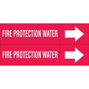Weather-Code 38185 Weather-Code? Self-Adhesive Outdoor Pipe Markers - Fire Protection Water