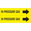 Weather-Code 38193 Weather-Code? Self-Adhesive Outdoor Pipe Markers - Hi-Pressure Gas